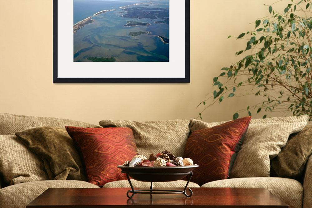 """""""Pleasant Bay Aerial Photo Looking Toward Chatham&quot  (2009) by ChrisSeufert"""