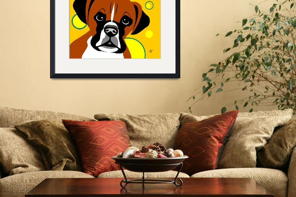 """Boxer Dog""  by waterart"