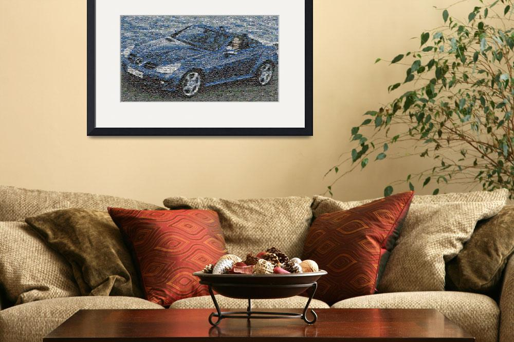 """""""Mercedes Benz SLK mosaic poster&quot  (2008) by coene"""