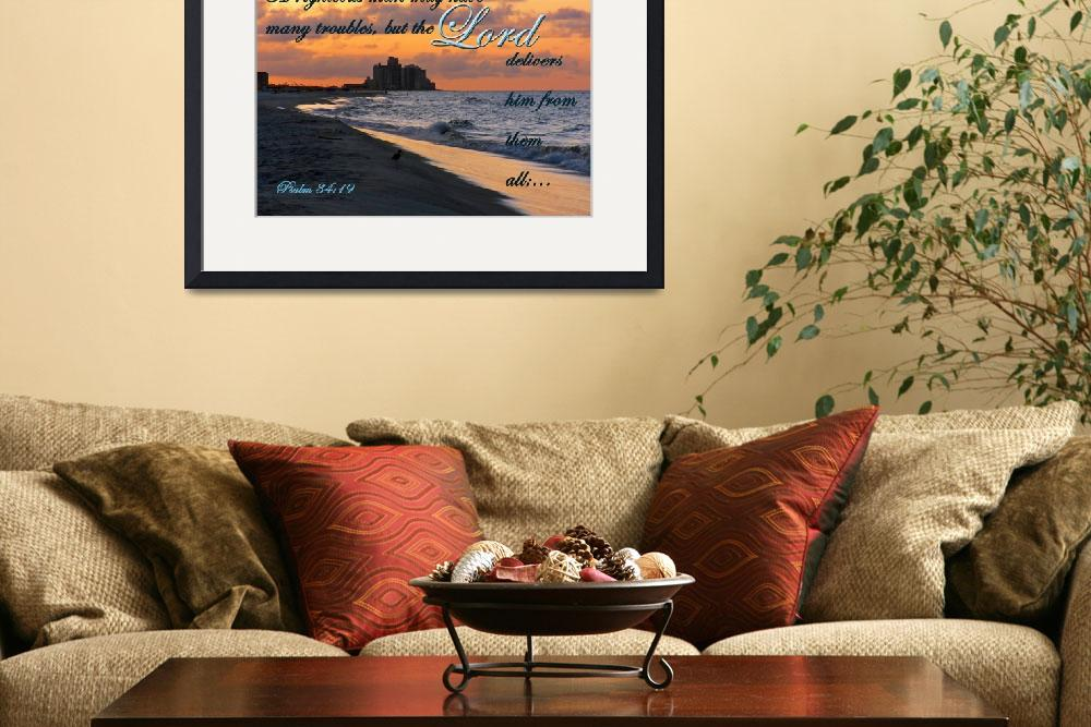 """sunrise at beach with scripture&quot  (2013) by PjCreates"