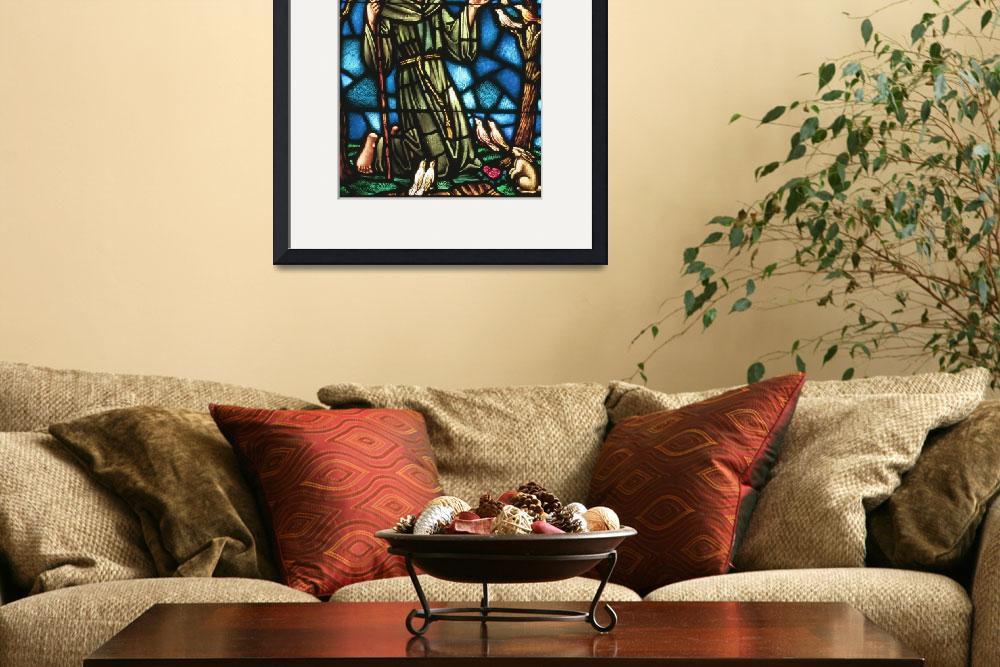"""St Francis of Assisi in stained glass&quot  (2004) by neilepi"