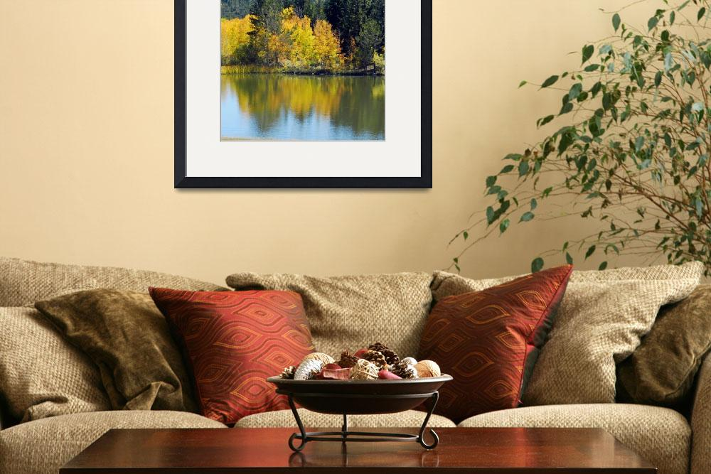 """Autumn lake reflection""  (2014) by lizmix"