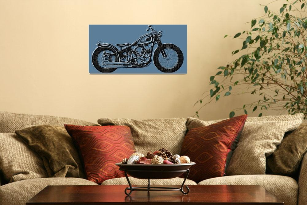 """""""Harley-Davidson and Words""""  (2014) by RubinoFineArt"""