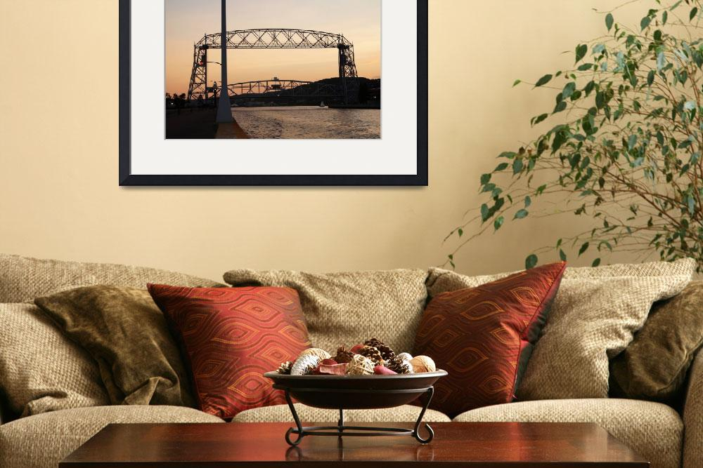"""""""Duluth MN Aerial Lift Bridge&quot  by cameragal"""