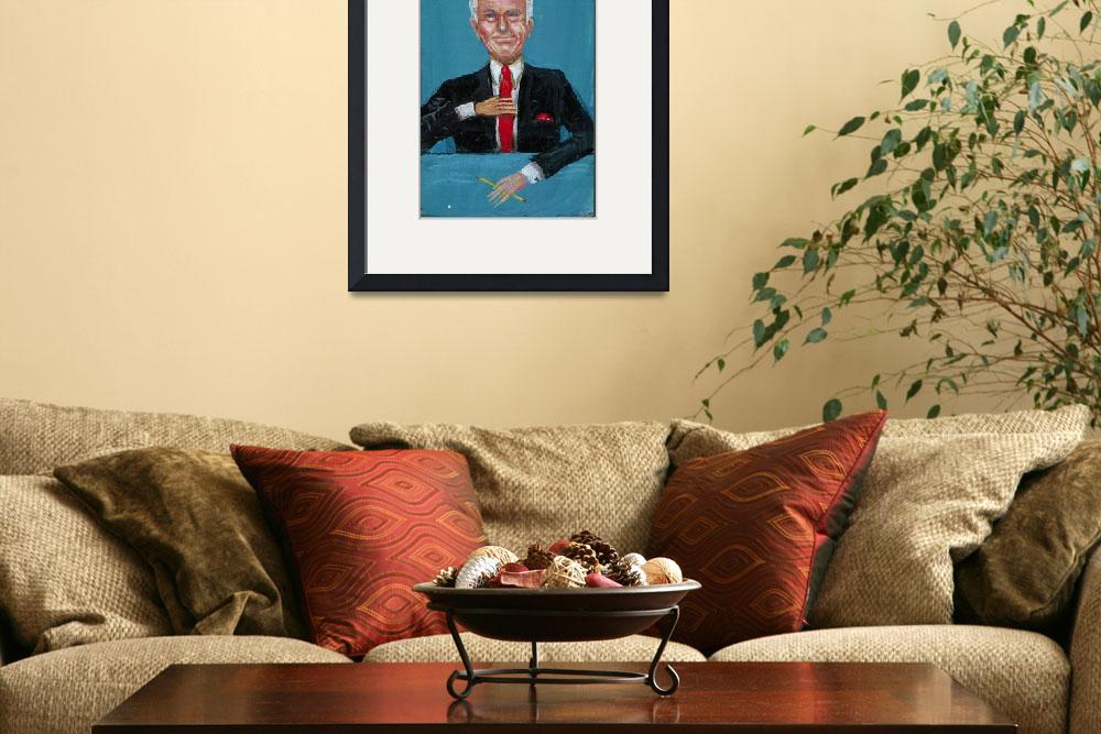 """""""Johnny Carson&quot  (2005) by AnnHuey"""