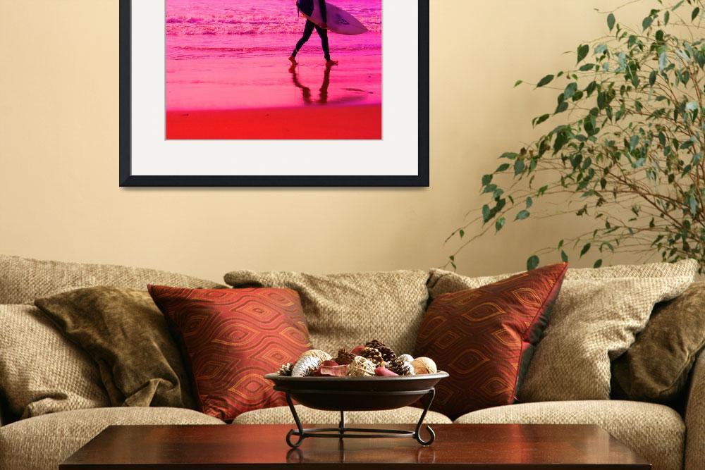 """""""Pink Surfer&quot  (2012) by maryhadalittleplan"""