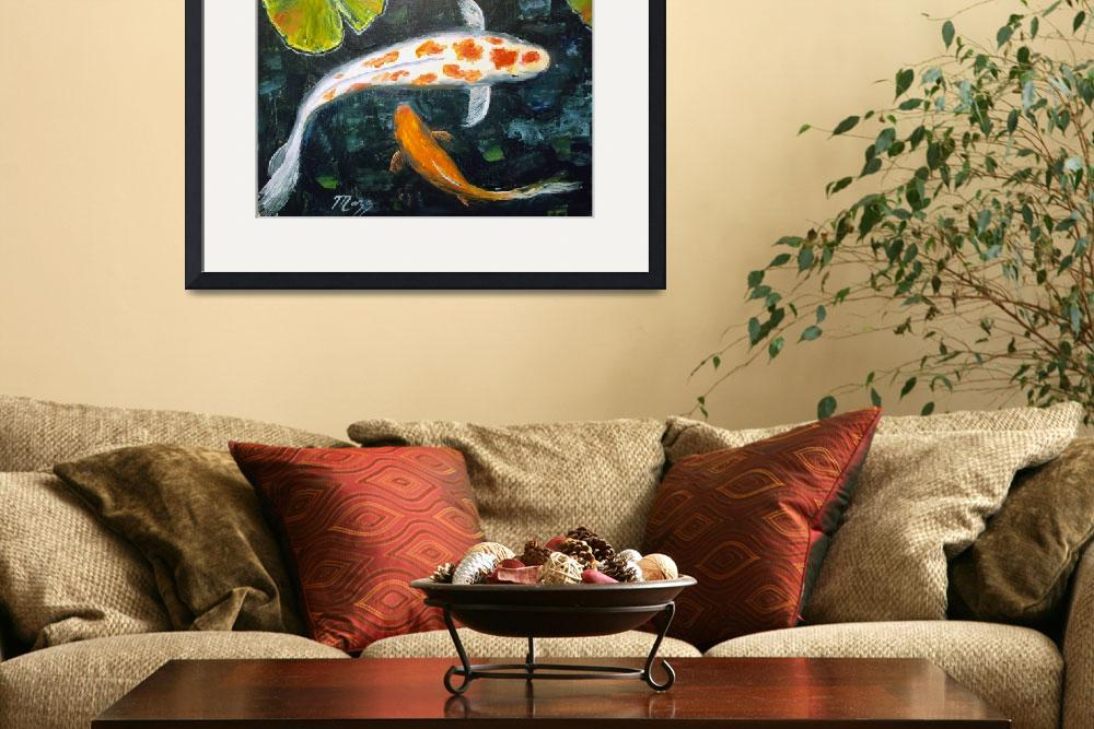 """""""Koi with Lily Pads&quot  (2013) by mazz"""