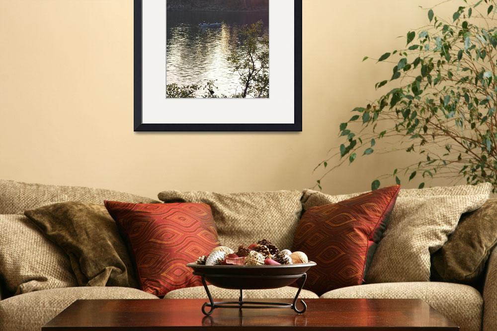 """""""fishing boat on american river in afternoon&quot  by lwoodburn"""