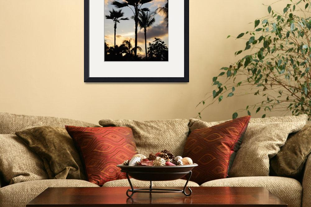 """""""Hawaii sunset in spring&quot  (2010) by NicholeBurke"""