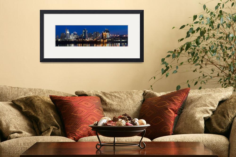 """""""Skyscrapers in a city Cincinnati Ohio&quot  by Panoramic_Images"""