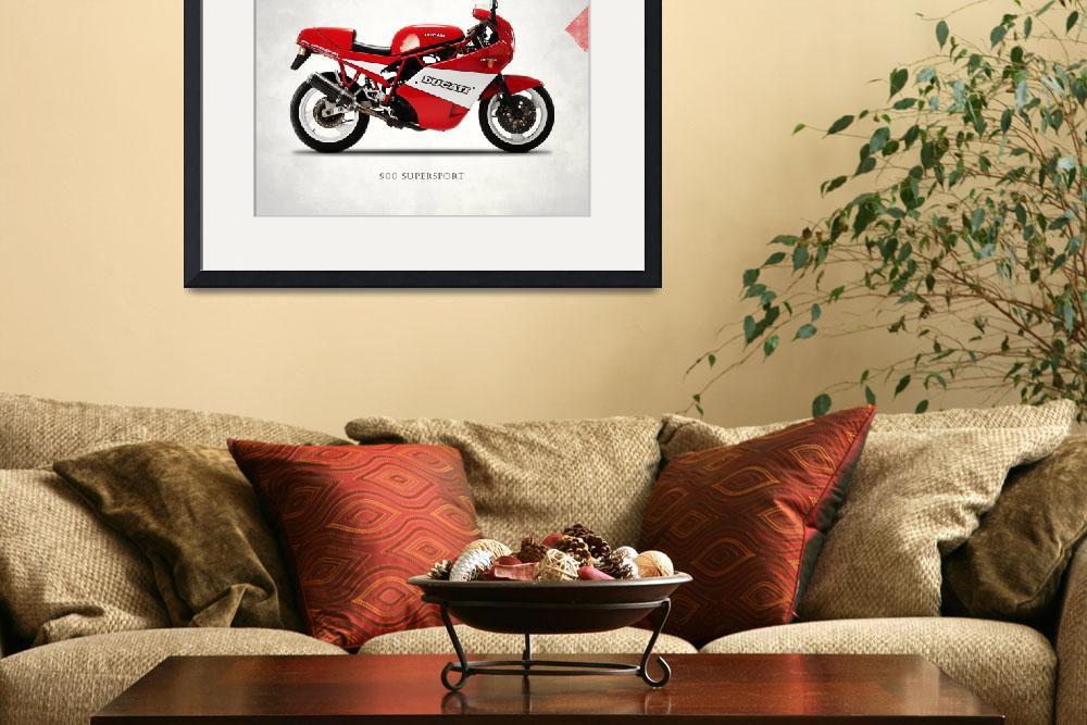 """""""Ducati 900 Supersport 1990&quot  (1990) by mark-rogan"""