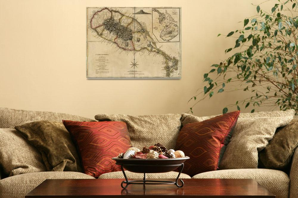 """""""Map of Saint Christophers Island (Saint Kitts) fro""""  by ArtHistory"""