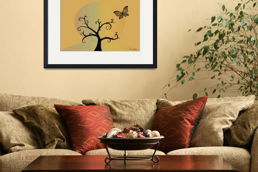 """""""Last Tree Standing - Yellow&quot  (2008) by ProvencalDesigns"""