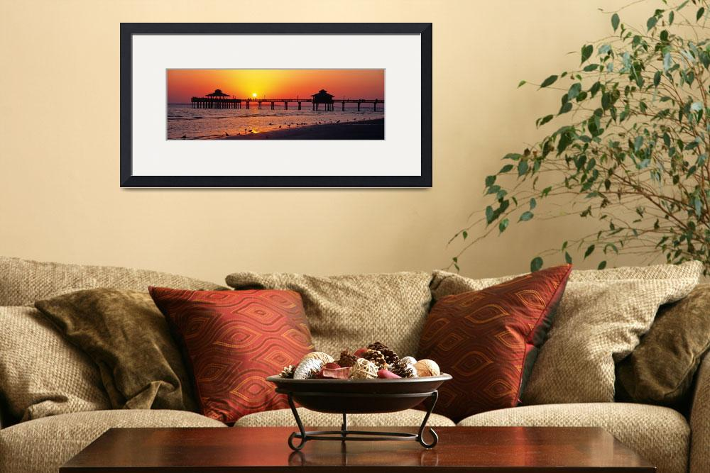 """""""Sunset Fort Myers Beach FL&quot  by Panoramic_Images"""