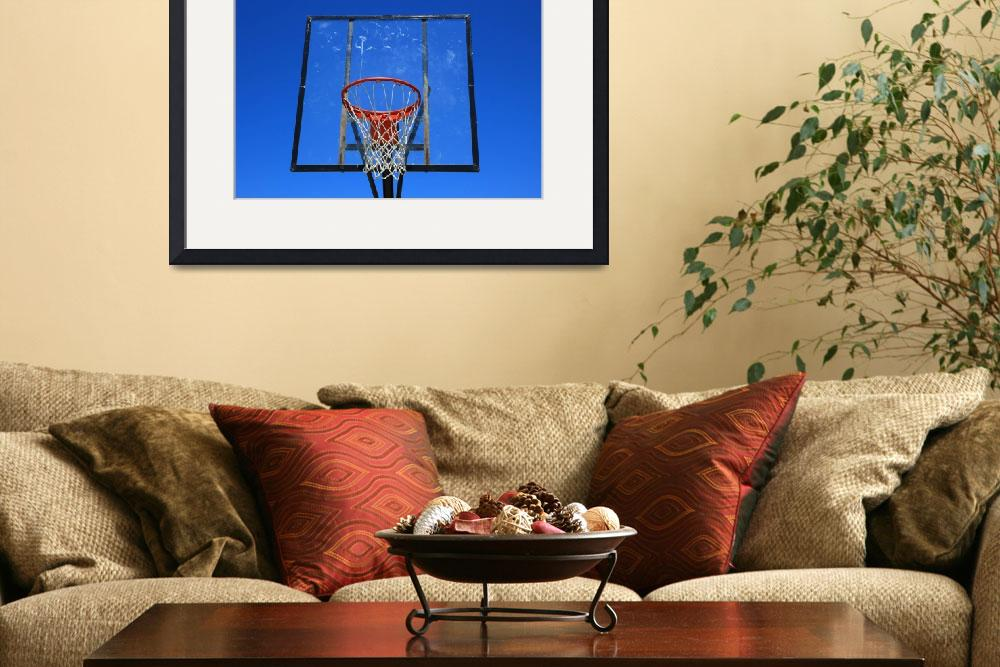 """""""Basketball Net and Hoop&quot  (2015) by rhamm"""