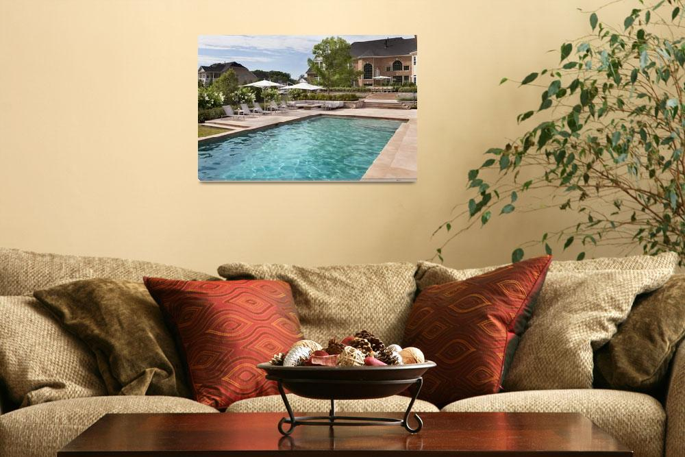 """""""1690_Hunting_Crest_Pool_House_F&quot  by Morganhowarth"""