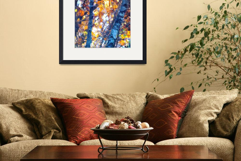"""""""Birches Reflection&quot  (2009) by bavosiphotoart"""