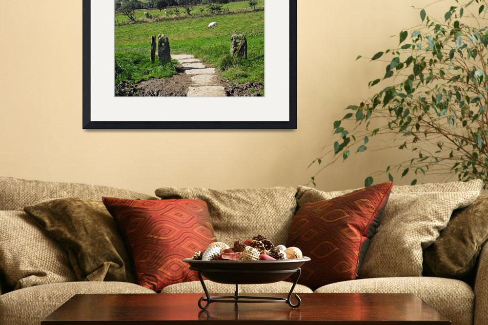 """""""Ancient Stone Gate Posts, Upper Booth&quot  (2012) by rodjohnson"""