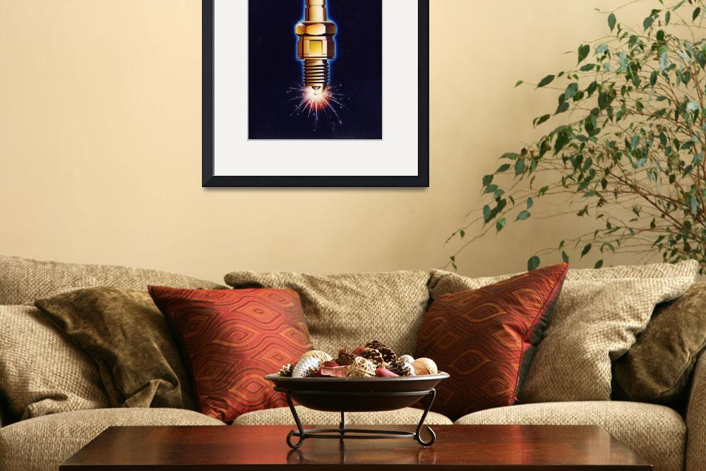 """""""Sparkplug ignites!&quot  (1987) by MikeCressy"""
