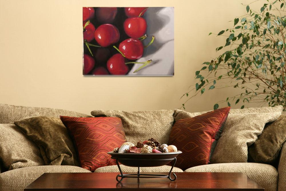 """Cherries in a Bowl""  (2008) by kathylumsden"