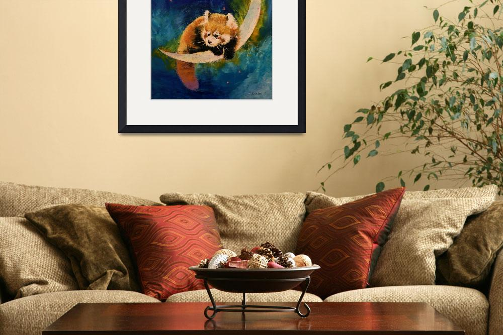 """""""Red Panda Moon&quot  by creese"""