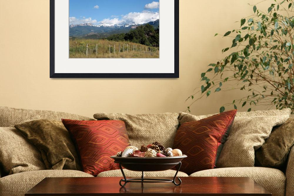 """""""Rustic Fence and Snow Capped Peaks&quot  by ethought"""