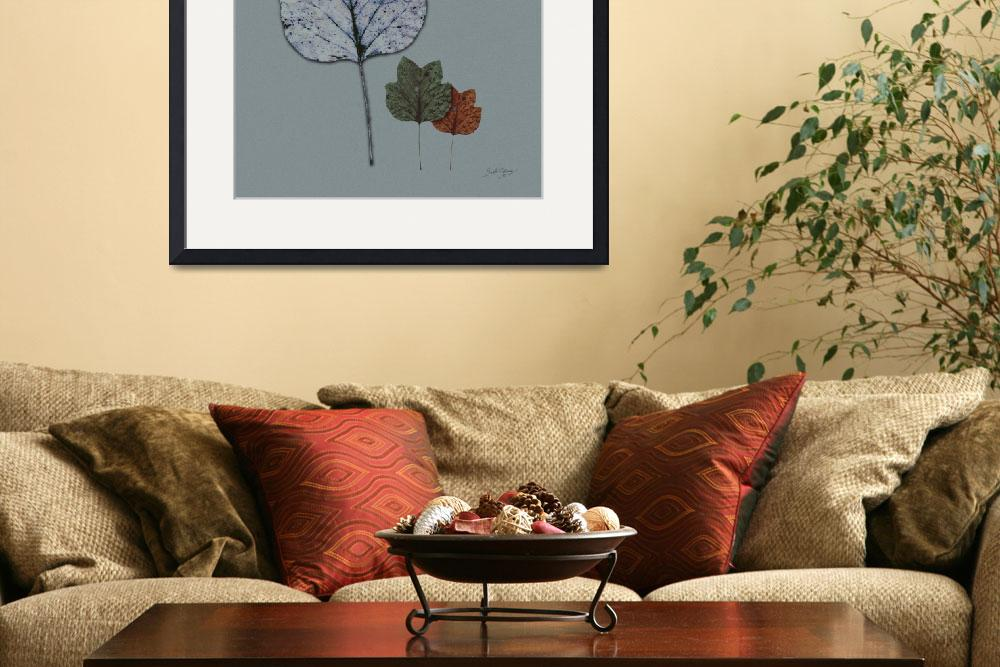 """""""Three Leaves Modern Art by Ginette&quot  (2009) by GinetteCallaway"""