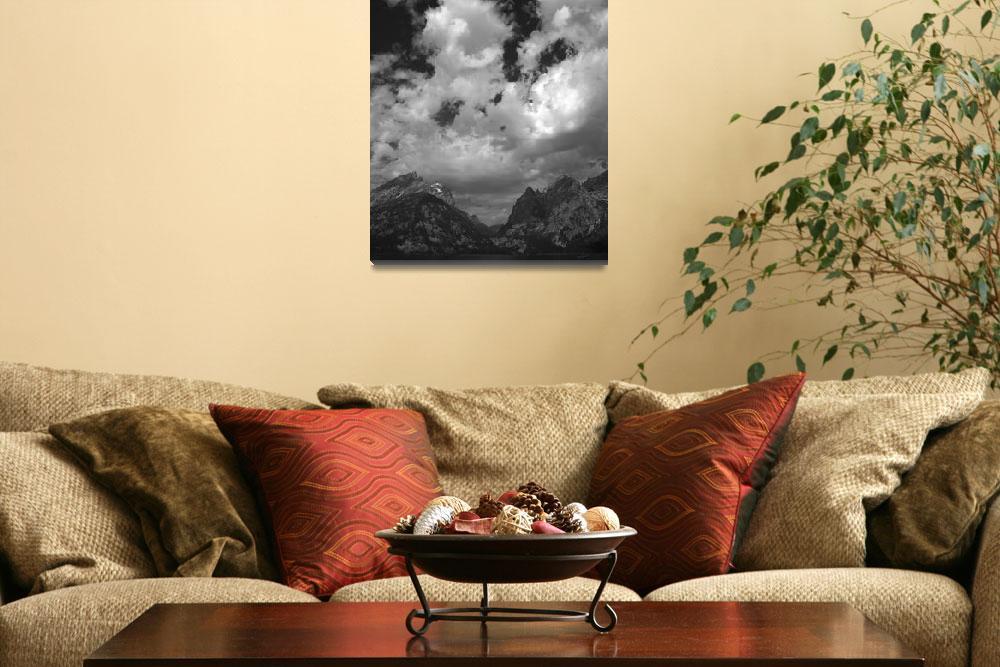 """Grand Teton National Park Jenny Lake & Mountains""  (2007) by FallingSilver"