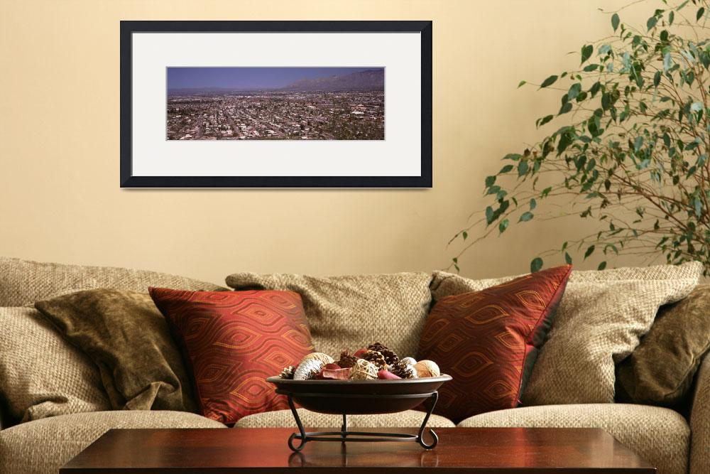 """""""Aerial view of a city Tucson Pima County Arizona&quot  by Panoramic_Images"""