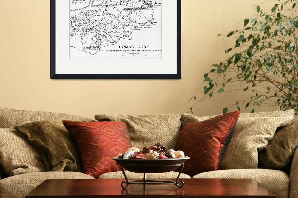 """""""Map of Roman Kent, England&quot  by fineartmasters"""
