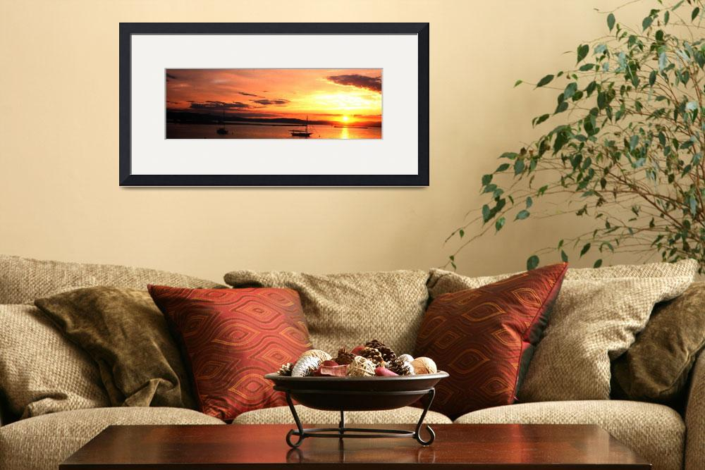 """Champlain Sunset&quot  (2003) by yankeeexpressions"