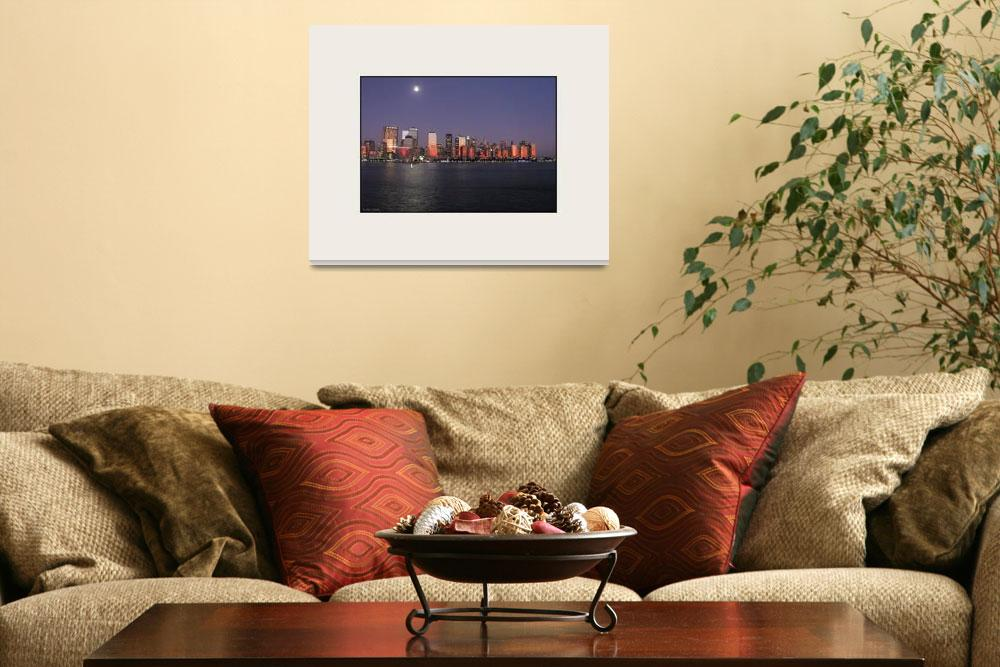 """Urban Moonlet New York City Skyline""  (2008) by CuriousEye"