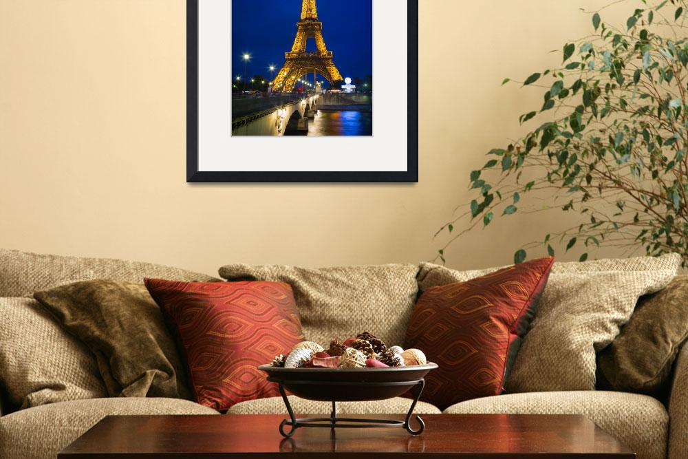 """Eiffel Tower by Night&quot  (2012) by Inge-Johnsson"