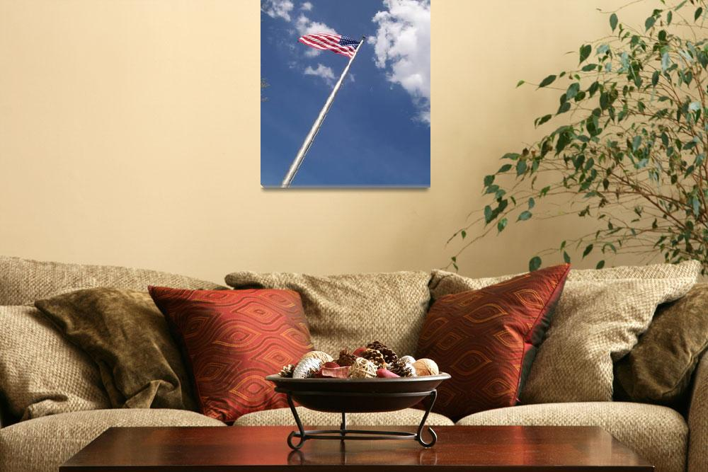 """""""American Flag up in the clouds&quot  (2008) by AngelKryptonite"""