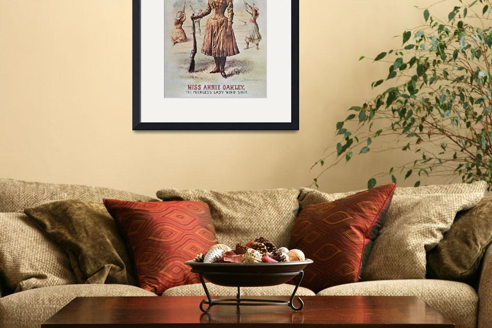 """Annie Oakley - Wild West Vintage Poster""  by fineartmasters"