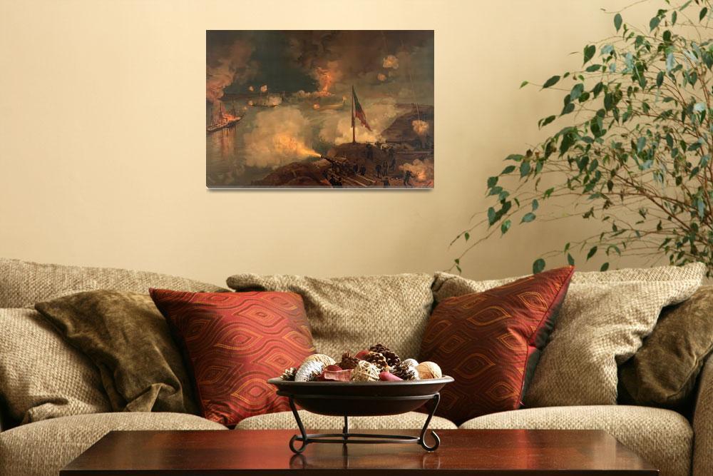 """Civil War Battle of Port Hudson by J.O. Davidson (""  by ArtHistory"