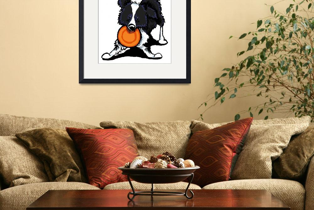 """""""Border Collie at Play&quot  (2012) by OffLeashArt"""