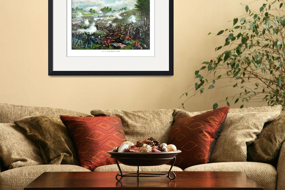 """""""Civil War painting of Union and Confederate troops""""  by stocktrekimages"""