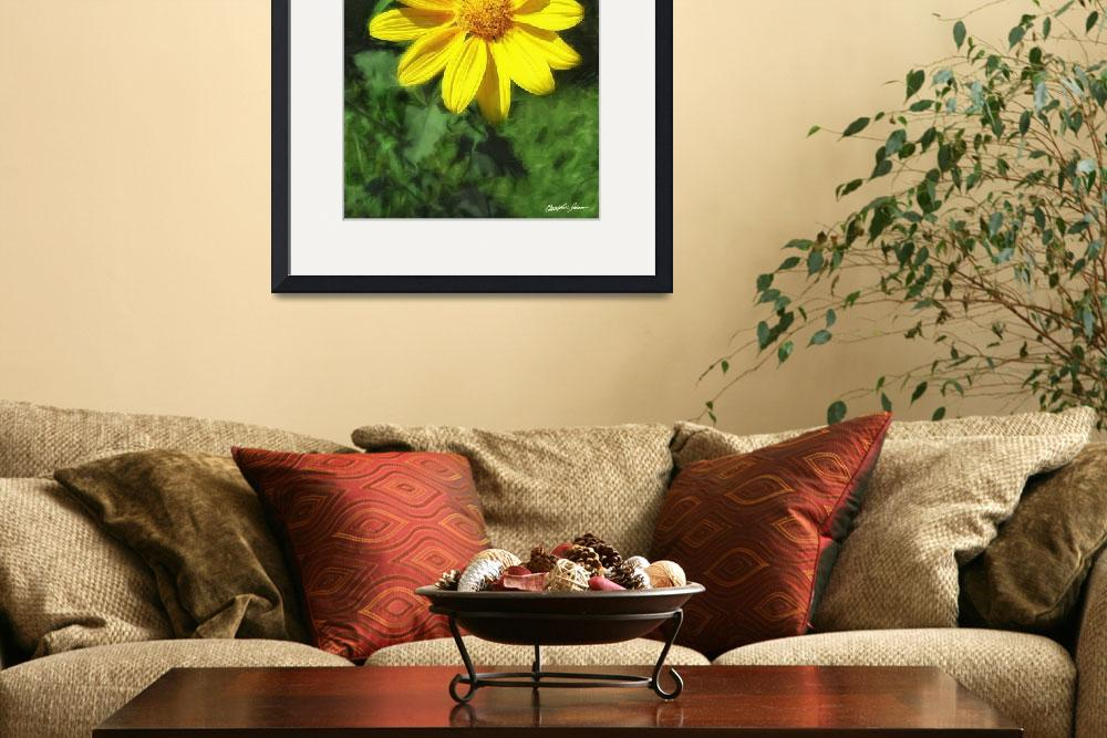 """""""Large Yellow Wildflowers 1&quot  (2009) by ChristopherInMexico"""