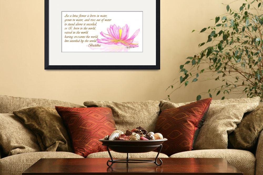 """""""Lotus Flower 1""""  (2009) by AmyMommaerts"""