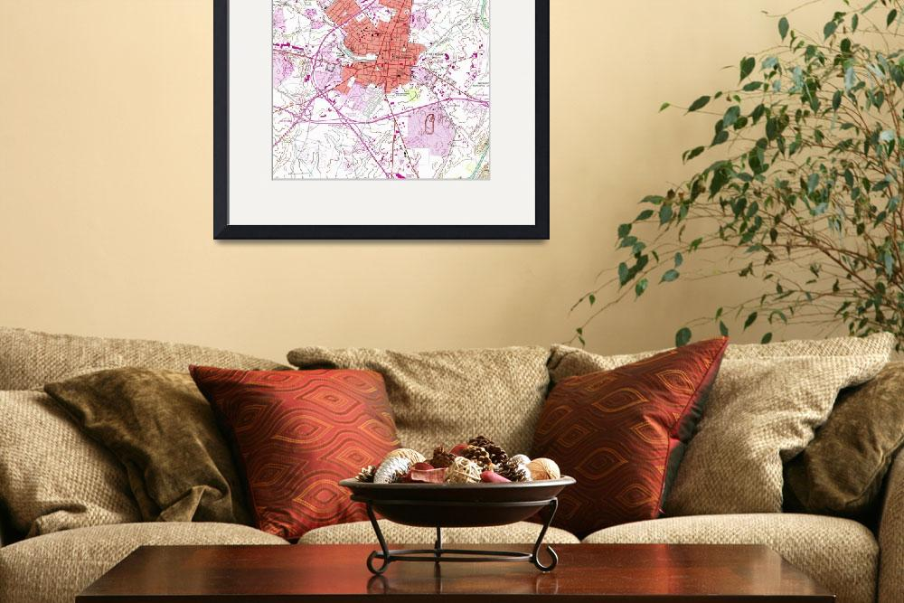 """""""Vintage Map of Frederick Maryland (1953) 2""""  by Alleycatshirts"""