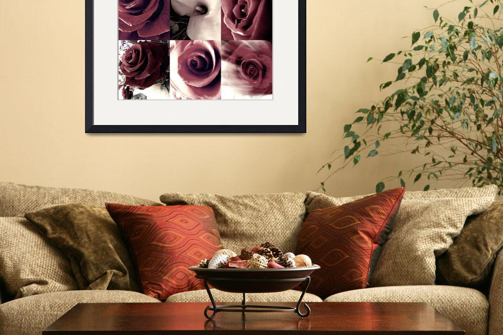 """Pink Vintage Rose&quot  by LOUISEDIONNE"