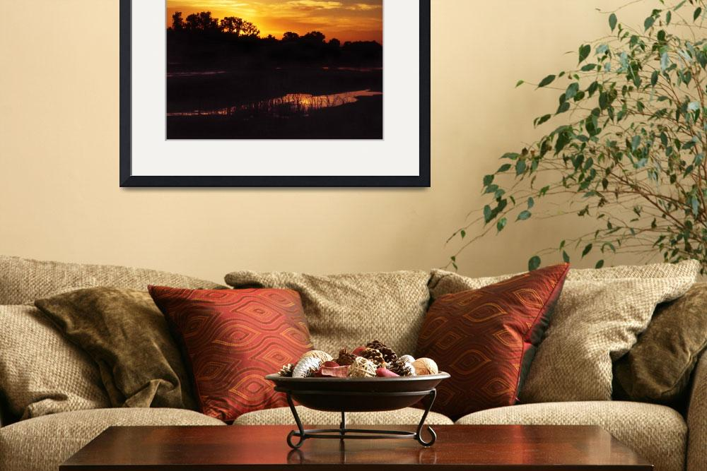 """""""Texas Panhandle River Sunset&quot  (2014) by AppleCoreStudio"""