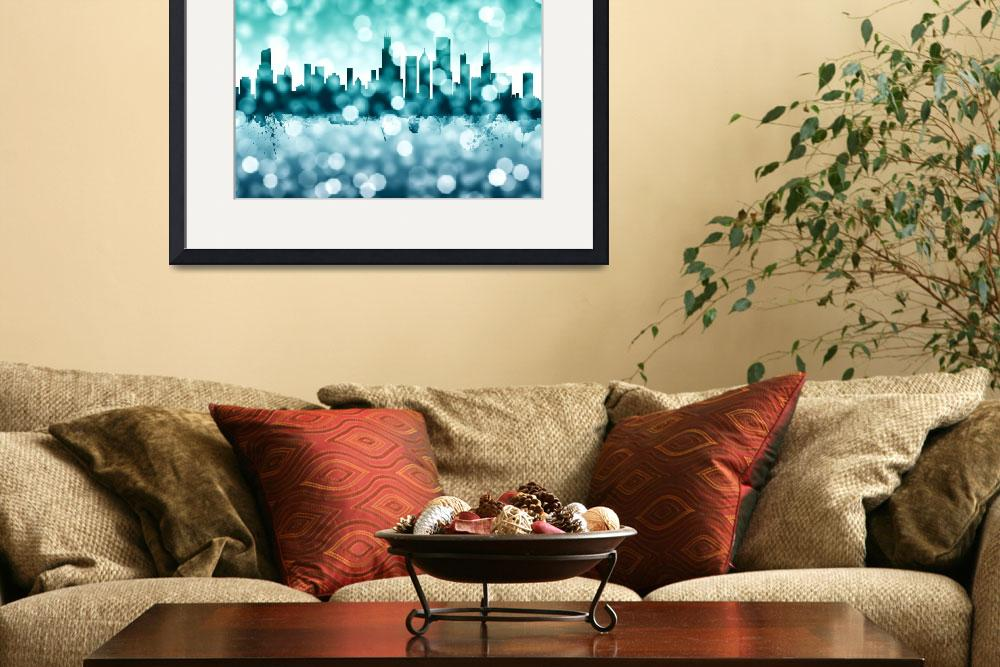 """Chicago Illinois Skyline&quot  (2017) by ModernArtPrints"