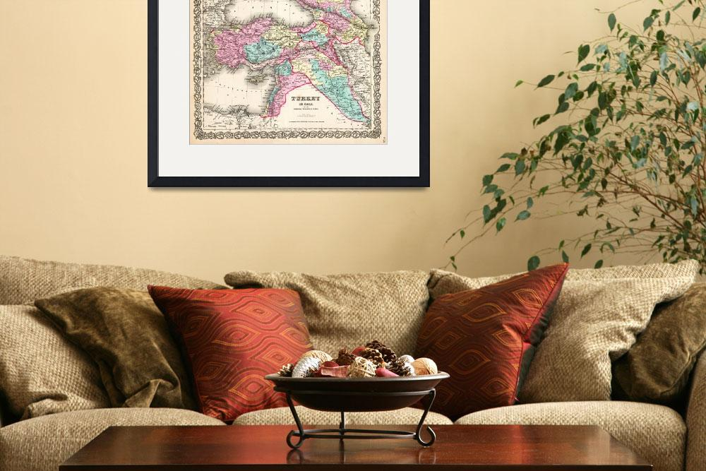 """""""1855 Colton Map of Turkey Iraq and Syria _-_Geogra&quot  by motionage"""