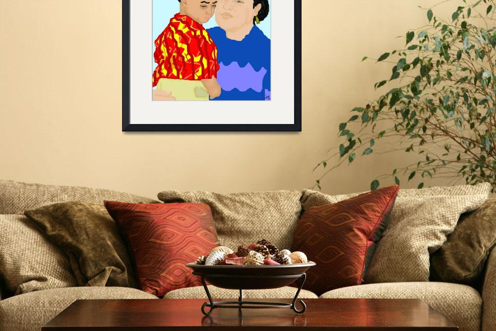 """""""Riva and Son&quot  (2008) by pharrisart"""