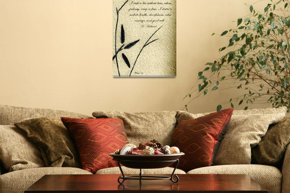 """Zen Sumi 4i Antique Motivational Flower Ink&quot  (2011) by Ricardos"