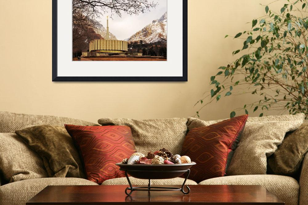 """""""provo temple and tree framing&quot  by houstonryan"""