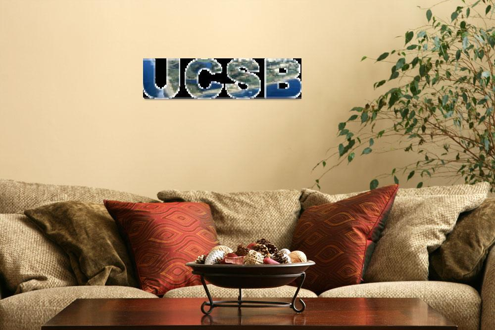 """UCSB Tiled Photo Text&quot  (2009) by PeterOliver"