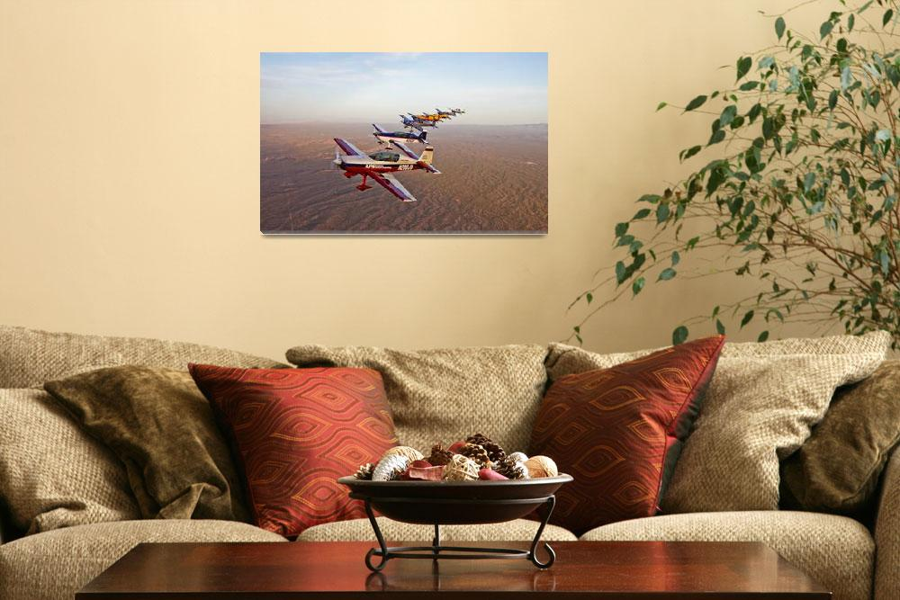 """""""Extra 300 aerobatic aircraft fly in formation over&quot  by stocktrekimages"""